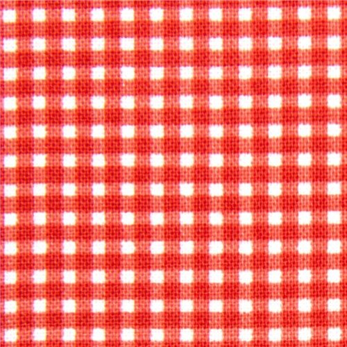 Red Checkered Michael Miller Fabric Gingham Pattern