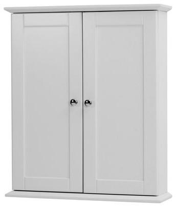 "21"" Columbia Bathroom Wall Cabinet, White."