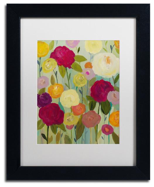 Birch Frame 11x14 Trademark Fine Art Flower Demo by Carrie Schmitt Wall Art White Matte