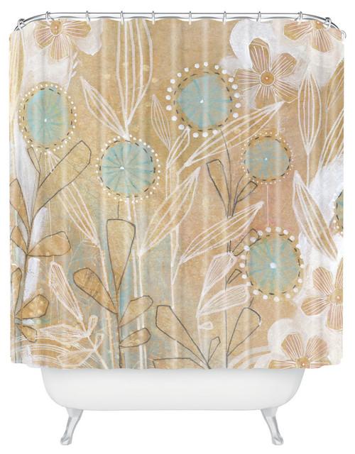 Cori Dantini Blue Fl Shower Curtain
