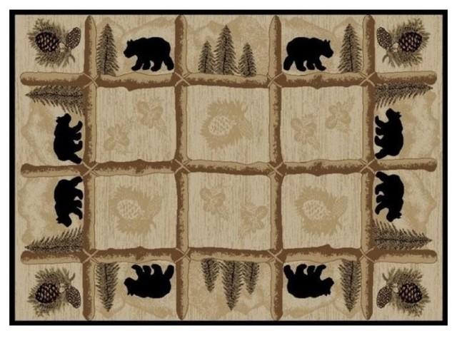 bear area rug toccoa hearthside collection