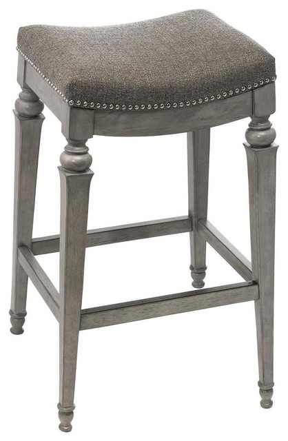 Hillsdale Vetrina Backless Non Swivel Barstool Weathered