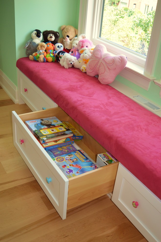 Window Seat Built-in Bench with Storage