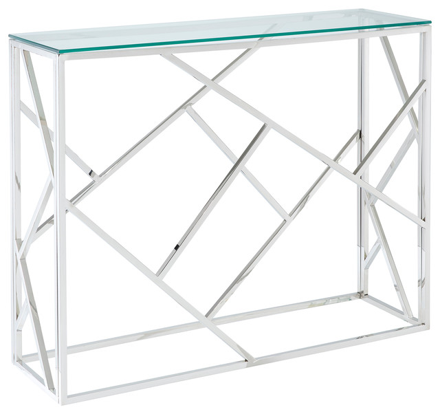 Stainless Steel Console Table.