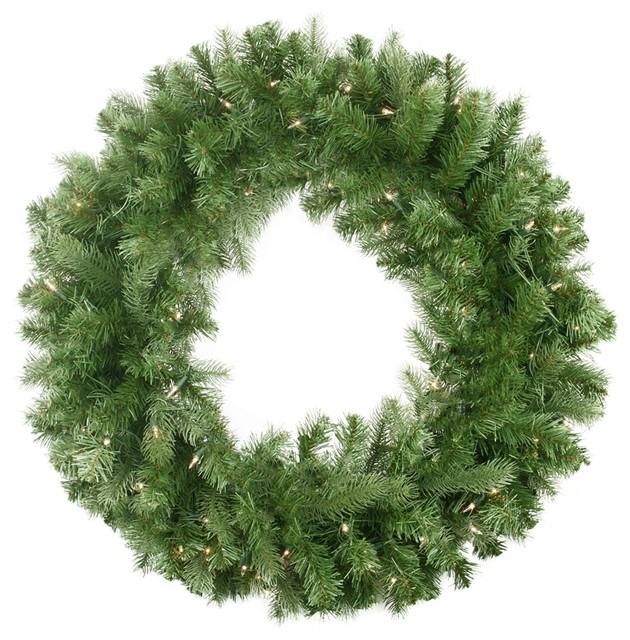 30 Pre-Lit Noble Fir Artificial Christmas Wreath, Clear Lights.