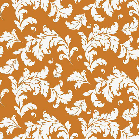 Oak Leaf Pumpkin Shelf Paper Drawer Liner, 36x12, Laminated Vinyl