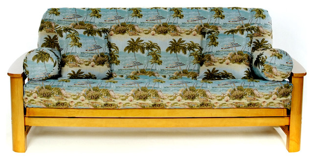 Beach Full Size Futon Cover Tropical Covers