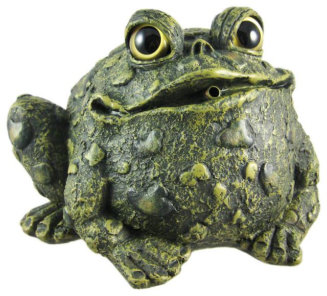 Zeckos Toad Hollow Green Frog Garden Pond