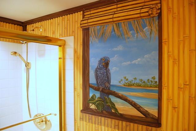 Hawaiian Beach Themed Mural By Tom Taylor Of Mural Art LLC