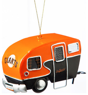 San Francisco Giants Metal Camper Ornament - Contemporary - Christmas Ornaments - by Gifted Living