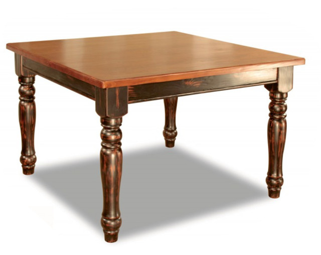 Square gathering table 54 traditional dining tables for Traditional dining table for 8