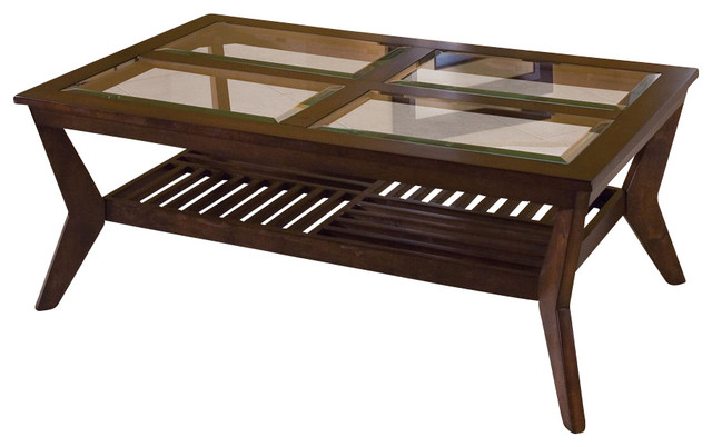 standard furniture norway 3-piece coffee table set in merlot