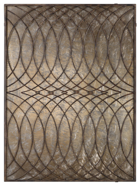 Uttermost Kanza Antique Bronze Wall Panel.