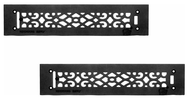 2 Heat Air Grille Cast Victorian Overall 3 1/2 X 16.