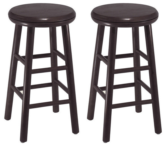 Winsome Wood Set Of 2 24 Swivel Kitchen Stools Assembled