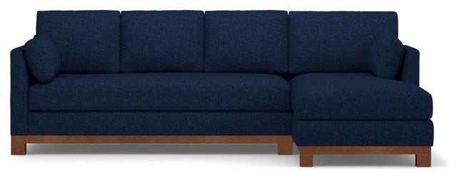 Avalon 2-Piece Sectional Sofa, Navy, Chaise on Left