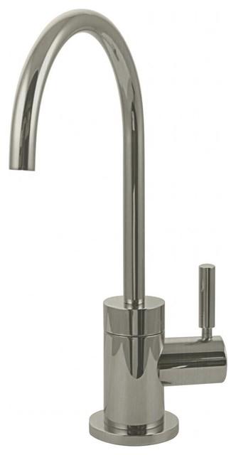 "Premium Contemporary 10"" Cold Water Dispenser In Satin Nickel."