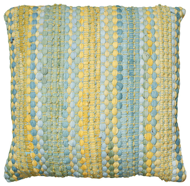 """Altair Pillow, Blue and Yellow, 20""""x20"""""""