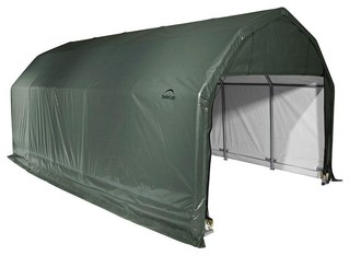 12'x28'x9' Barn Style Shelter, Green