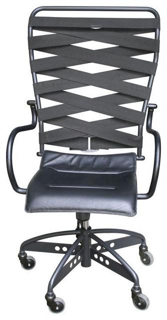 Canasta Leather Office Chair By Heron Parigi 1 000 Est Retail 375 On Chai