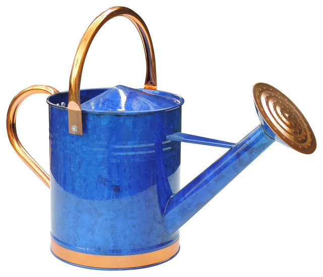 Deluxe Watering Can, Blue, 2 Gallons