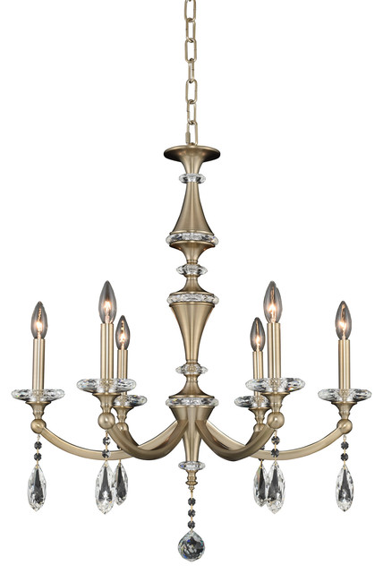 Allegri Floridia 6-Light Modern Chandelier in Chrome
