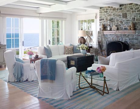 White Beach House in California - Decorating a Beach House with White - House Be