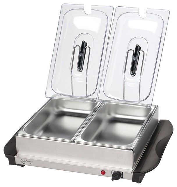 Betty Crocker Stainless Steel Buffet Server With Warming Tray.