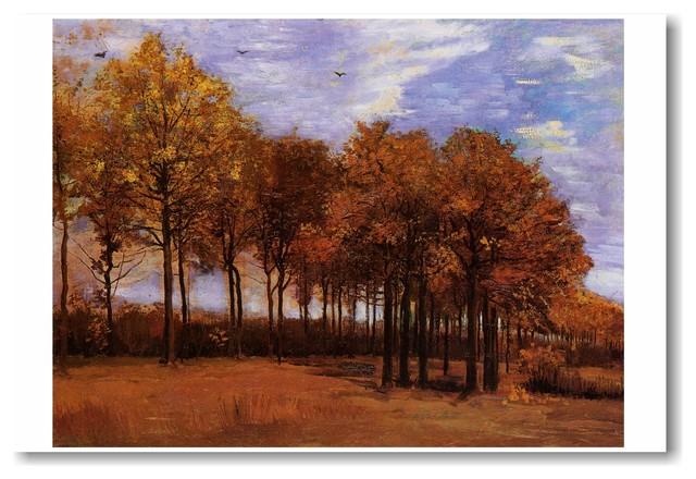 posterenvy autumn landscape 1885 vincent van gogh