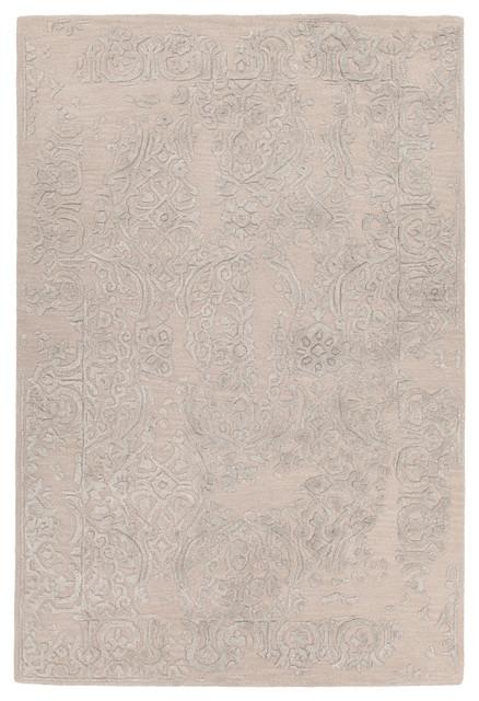 Xia Hand-Tufted Rectangular 9&x27;x13&x27; Area Rug, Pink, Gray.