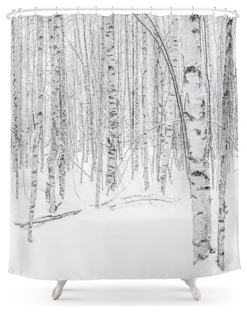Swedish Birch Trees Shower Curtain contemporary-shower-curtains - Swedish Birch Trees Shower Curtain - Contemporary - Shower