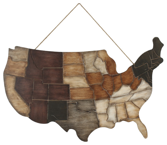 States Usa Wall Art Plaque.