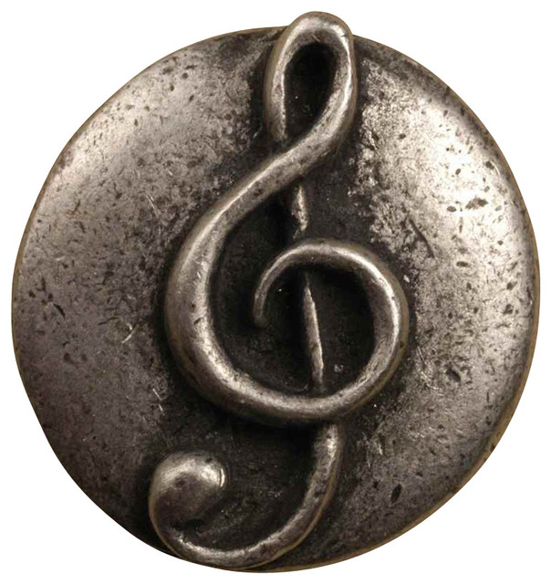 Clef knob, Set of 10, Antique Bronze - Contemporary - Cabinet And Drawer Knobs - by ShopLadder