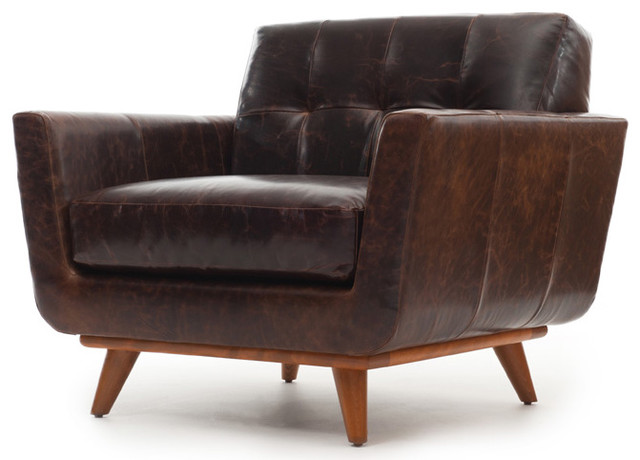 Nixon Leather Chair Modern Armchairs And Accent Chairs by