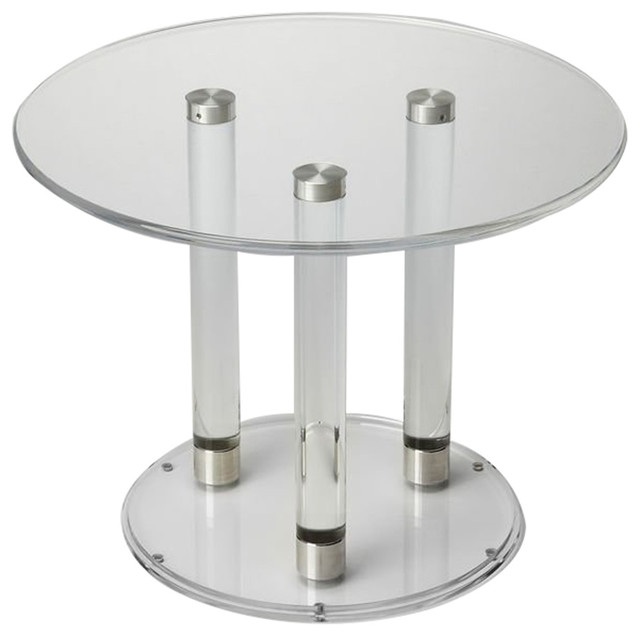 Landis Clear Acrylic Bunching Cocktail Table