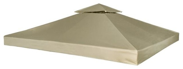 Onlinegymshop 10&x27;x10&x27; Outdoor Waterproof Gazebo Cover Canopy, Beige.