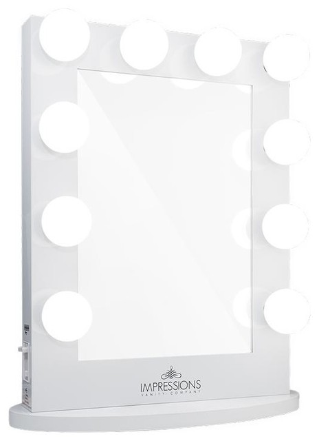 Hollywood Iconic Vanity Mirror: White (Clear LED) by Impressions Vanity Company