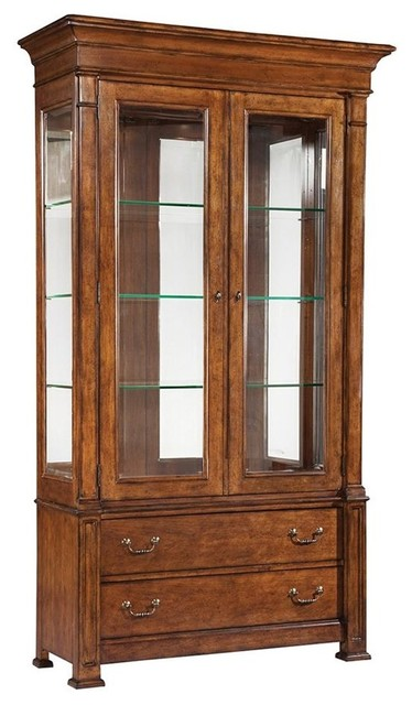 European Legacy Tall China Cabinet - Contemporary - China Cabinets And Hutches - by ShopLadder