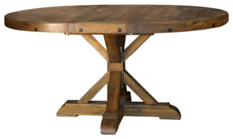 A-America Anacortes 62 Oval Pedestal Table, With 16 Leaf by A-America