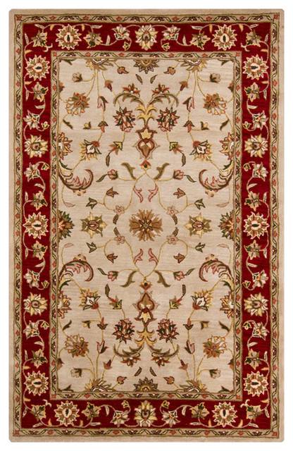 Chandra Perusia Perusia001 Rug Tan Red Green Yellow Brown Traditional Area Rugs By Buyarearugs