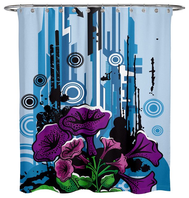 Lifestyles By Ramco Metro Flowers Shower Curtain