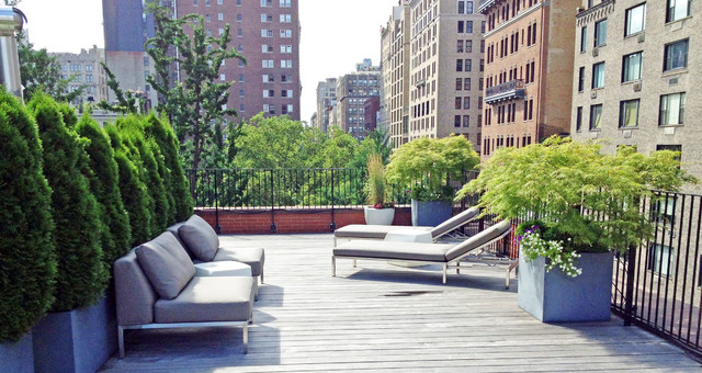 Gramercy Park Nyc Roof Garden Terrace Deck Container