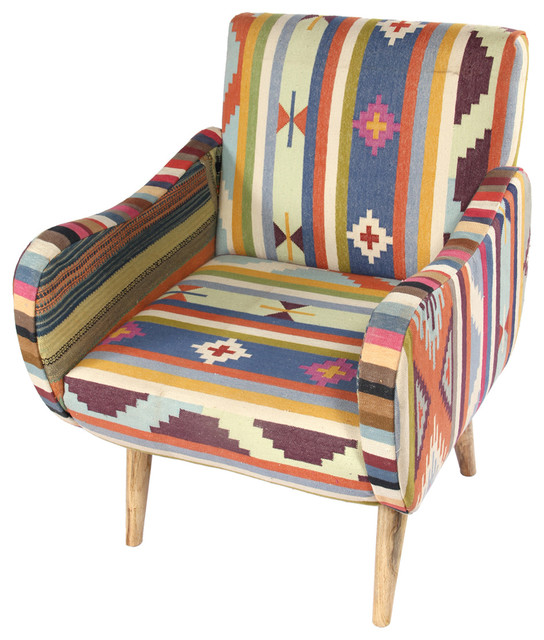 Geometric Chair Southwestern Armchairs And Accent