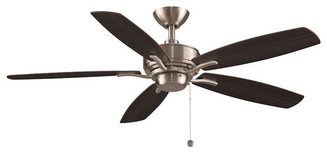 "Fanimation Aire Deluxe Fp6284bn Ceiling Fan, Nickel, 52""."