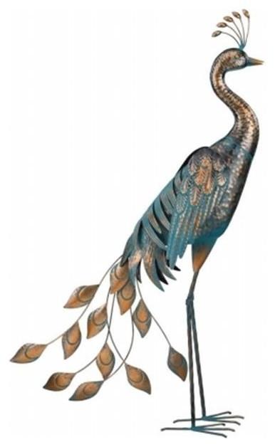 Regal Patina Peacock Decor 40