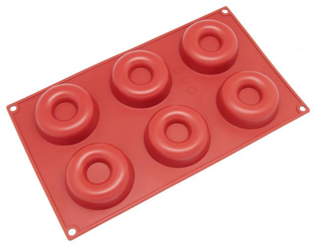 Freshware 6-Cavity Silicone Mini Savarin Mold.