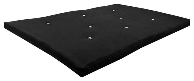 Foldable Futon Mattress, Black Soft Cotton for Ultimate Comfort, Modern Style