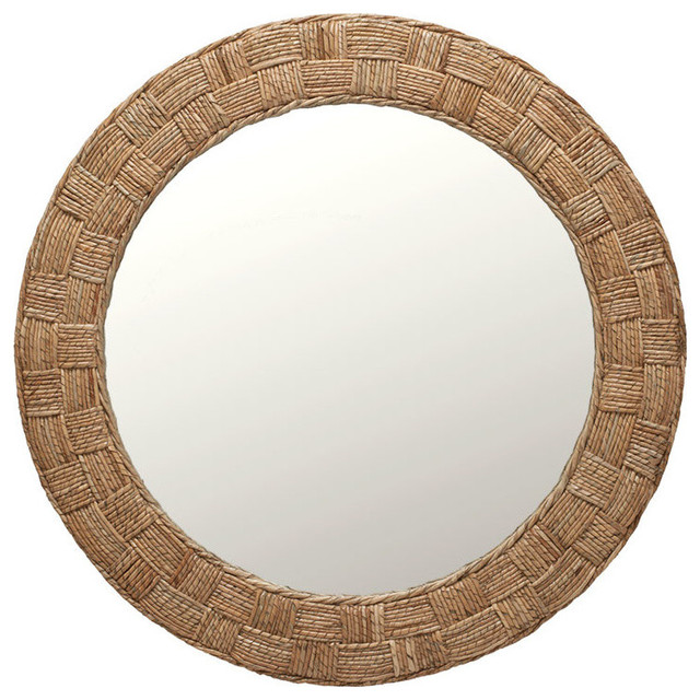 Round Rope Checquered Wall Mirror.