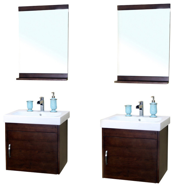 Shop Houzz 48 8 Inch Double Wall Mount Style Sink Vanity