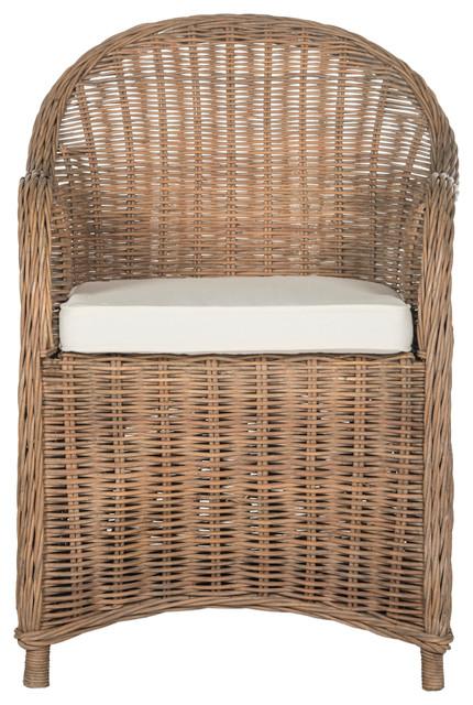 Safavieh Hemi Striped Wicker Club Chair Armchairs And